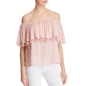 Vintage Havana Off The Shoulder Tassel Top